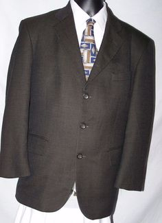 Oscar De La Renta Wool Tweed 3 Button Men's Sport Coat Size 42 #OscardelaRenta #ThreeButton