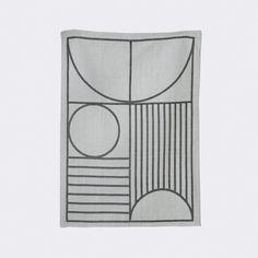Ferm Living Outline Tea Towel