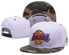 LA Lakers White Snapback Hats Camo Brim|only US$6.00 - follow me to pick up couopons.