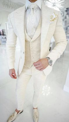 Simply add 5 items to your cart. White Wedding Suit, Wedding Suits, Mens Fashion Suits, Mens Suits, Groom And Groomsmen Attire, Cool Outfits, Fashion Outfits, Tuxedo For Men, Kurta Designs