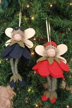 Do-it-yourself Christmas Decorations - 60 DIY Ideas Ideas Christmas Ad, Christmas Makes, Christmas Angels, Christmas Crafts, Christmas Decorations, Xmas, Christmas Ornaments, Holiday, Tree Decorations