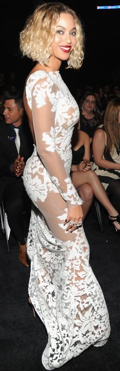 Beyonce wowed in white at the Grammys