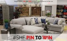Pin it to win it! Win a gift card of $15-25 to Showhome furniture! We choose a winner ever Monday! Follow us Facebook or check out or website!