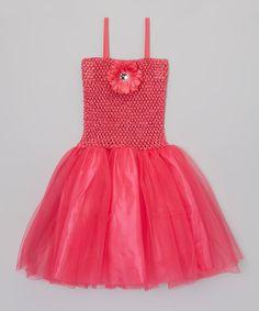 Look at this Fuchsia Sparkle Flower Tutu Dress - Toddler