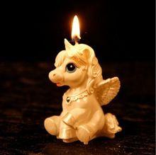 unicorn candle baptism favors / adorable unicorn / sweet warm candle favor