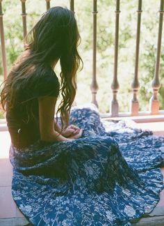 t-bags floral maxi skirt #boho