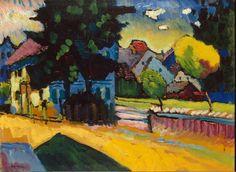 Wassily Kandinsky:  View of Murnau (1909) via The State Hermitage Museum