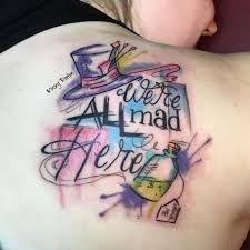 Resultado de imagen para we are all mad here tattoo