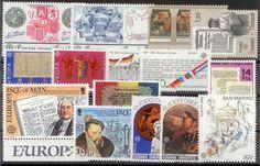 Emissions Europa-CEPT 1982 sélection de timbres neuf** en séries, à saisir.