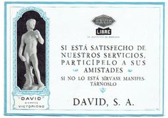 Folleto de Publicidad Taxis David