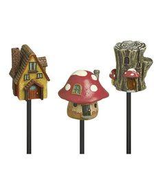 Love this Mini Birdhouse Seven-Piece Pick Set on #zulily! #zulilyfinds