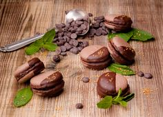 Chocolate macarons by legat