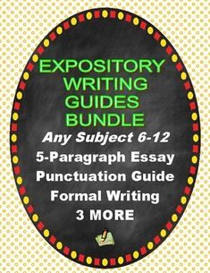 Expository Writing, Informational Writing, Teaching Writing, Writing Skills, Secondary Resources, Science Resources, Common Core Writing, Cross Curricular, Middle School Writing