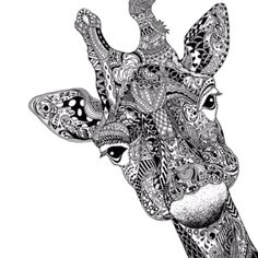 zentangle giraffe | Zentangle like Giraffe art | Xana's AWESOME Board