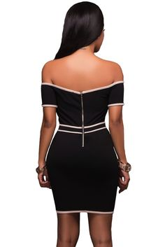 - Available as shown - Nude trim - Off shoulder - Above knee, mini - polyester and spandex Cheap Dresses, Sexy Dresses, Summer Dresses, Sexy Outfits, Fashion Outfits, Off Shoulder Dresses, Girls Night, Sexy Lingerie, Bodycon Dress