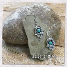 Hamsa Hand dangle earrings spiritual  Jewelry Earrings