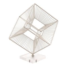 The Zuo Modern Cuadrado Figurine will make a marvelous focal point in any contemporary home or office space. This three-dimensional cube sculpture features an appealing metallic finish, and is unique in that it can be enjoyed from multiple perspectives. Contemporary Decorative Objects, Modern Contemporary, All Modern, Modern Decor, Modern Sculpture, Home Decor Outlet, Three Dimensional, Decorative Accessories, Accent Decor