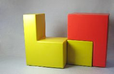 Stackable Block Chairs 60's/70's  Wavin The Netherlands