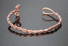 twisted copper wire bracelet  Could add a bead or a few.