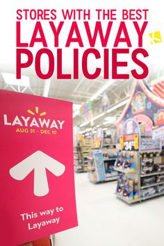 You may have heard about layaway, but what exactly is it? Layaway is kind of like a credit card, but without all that debt hanging over your head. In-store and online layaway programs can be less t. Ways To Save Money, Money Tips, Money Saving Tips, Money Hacks, Shopping Coupons, Shopping Hacks, Shopping Deals, Budgeting 101, Best Savings