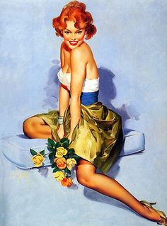 red head pinup girl