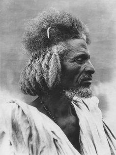 "Africa | ""Landowner. Habab Tribe"". Somalia - Eritrea || Vintage photographic print; ca. 1936."