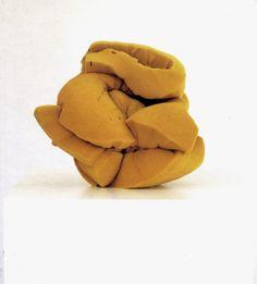 artlog: John Chamberlain, Untitled, 1966, utherane foam and cord.