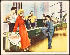 "Movie Posters:Comedy, Modern Times (United Artists, 1936). Lobby Card (11"" X 14"").. ..."