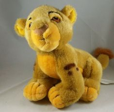 "Disney Lion King Simba Stuffed Baby Cub Toy 12"" Plush Disney Store #Disney"