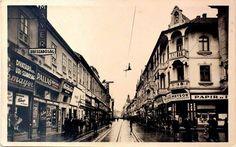 Rákóczi utca, Nagyvárad. Úri szabóság 1940-es évek elejéről. Utca, Louvre, Building, Travel, Viajes, Buildings, Destinations, Traveling, Trips