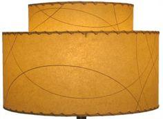 Create your own 2-tier fiberglass lampshade - Meteor Lights' fiberglass lampshades