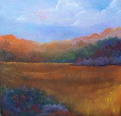 "Autumn in Michigan 16""x16"" acrylic painting.   http://etsy.me/u2VZkf"