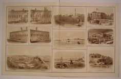 Views of Fort Sumter / Fort Moultrie SC nice c.1895 antique folio Civil War map