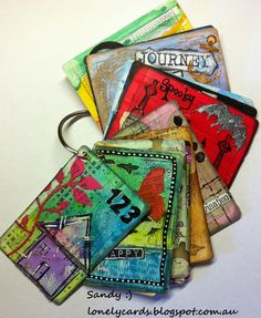 Lonely Cards: The altered playing card challenge week Art Journal Pages, Journal Cards, Art Journals, Playing Card Crafts, Playing Cards, Paper Art, Paper Crafts, Diy Crafts, Art Trading Cards