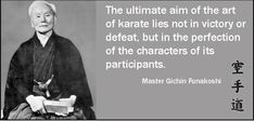 The primary goal of Karate is self-improvement rather than victory or defeat.