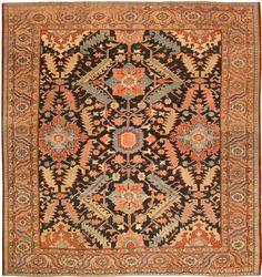 Antique Heriz Serapi Persian Rugs 43247 - Detailed Photo | Large Image