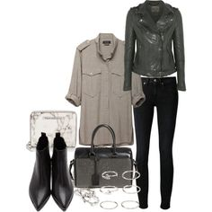 A fashion look from January 2015 featuring Isabel Marant tops, MuuBaa jackets and Levi's Made & Crafted jeans / Polyvore