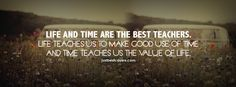 Life And Time Are The Best Teachers Facebook Cover Photo | JUSTBESTCOVERS