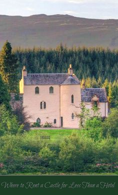 Girl's Getaway, Family Celebration, Your Destination Wedding - Did you know that you can rent a castle for less than a hotel in places like France, Scotland and Belgium? Click the link for eight grand estates you can rent for your vacation.