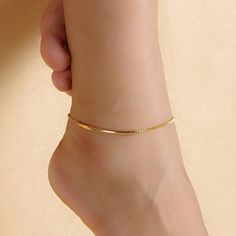 Purchase Women Golden Tone Elbow Pipe Chain Anklet Bracelet Barefoot Sandal Foot Jewelry from Aofa on OpenSky. Share and compare all Jewelry. Foot Bracelet, Anklet Bracelet, Bracelet Friendship, Jewelry Sets, Fine Jewelry, Jewelry Making, Jewelry Stand, Simple Jewelry, Jewelry Holder