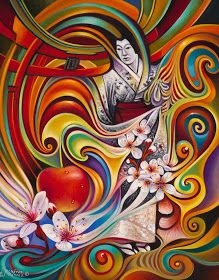 Painting - Dynamic Blossoms by Ricardo Chavez-Mendez Devian Art, Modern Art Paintings, Illusion Art, Paper Artist, Living At Home, Love Painting, Surreal Art, Painting Inspiration, Amazing Art