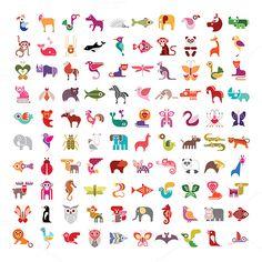 Animal icon set by dan on Creative Market