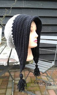 Free Pattern: Winter bonnet(slouchy) with tassels - All Free Crochet Pattern