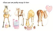 Hip Hip Hooray, Pony Birthday, Horse Greeting, Equestrian Birthday Card | Stickybud Cards Horse Pony And Country Greeting Cards,Horse Birthday Cards