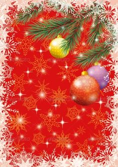 Christmas Holiday Background #GraphicRiver Background for Christmas holiday design: spruce branches, balls, stars and snowflakes Vector EPS 10 plus AI CS 5 plus high-quality Jpeg. Editable vector file, containing only vector shapes. Contains gradients. Contains transparencies. Created: 8November13 GraphicsFilesIncluded: JPGImage #VectorEPS #AIIllustrator Layered: Yes MinimumAdobeCSVersion: CS5 Tags: background #ball #border #branch #celebration #christmas #christmastree #december #decoration…