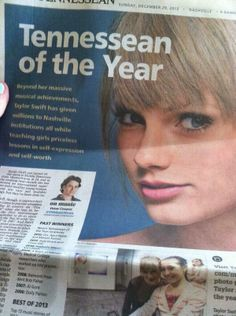 Tennessean of the year: Taylor Swift!