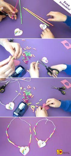 Unicorn Straw Necklace for Kids