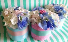 Set of 3 Mini Diaper Cake / / / Baby Shower by TinyGoldenArrows, $60.00