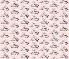 Vintage Plane-pink - smallest fabric by koalalady on Spoonflower - custom fabric