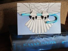 Harry Potter's Hedwig Christmas Card Template Pinned by www.myowlbarn.com
